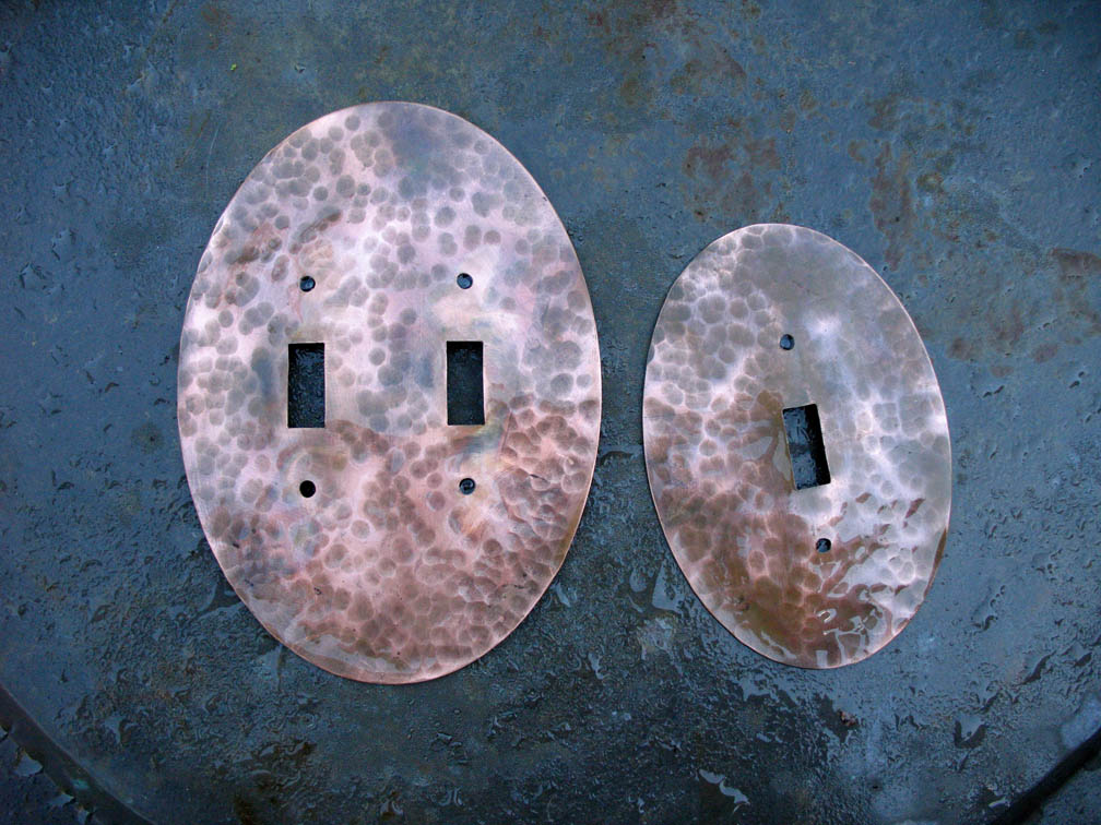 Elliptical Copper Switch Plates