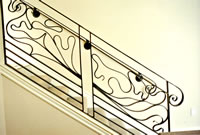 Free Form Art Nouveau Interior Railing 1